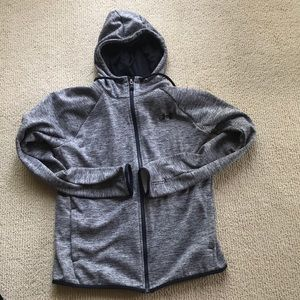 Under armor zip up with thumb holes